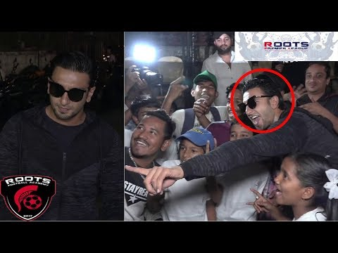 Ranveer Singh Funny Moments With Kids At Inauguration of Roots Premier League Spring Season 2018