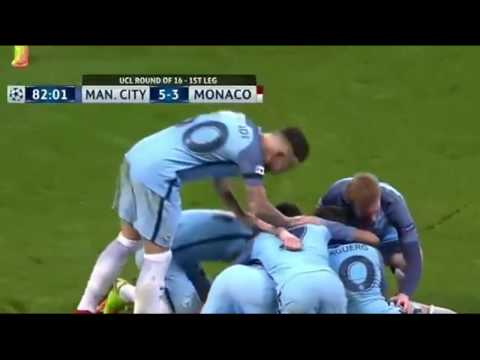 Manchester City vs Monaco 5-3 ● All Goals & Extended Highlights ● 21/02/2017 [HD]