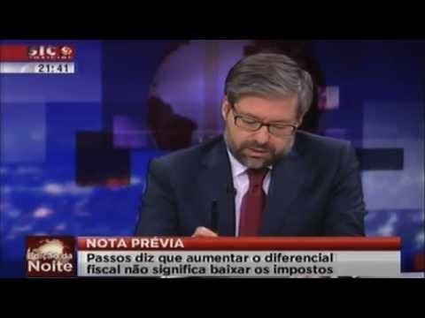 Marco António Costa no programa Frente-a-Frente da SIC Notícias