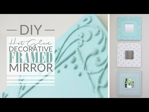 shabby chich - come decorare una cornice con la colla a caldo