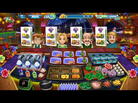 Cooking Fever: Aloha Bistro 38 & 39: Three Stars