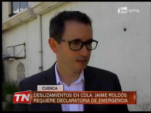 Deslizamientos en Cdla. Jaime Roldós requiere declaratoria de emergencia