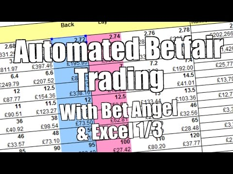 Automated Betfair trading with Bet Angel and Excel (1/3)