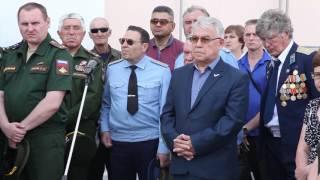 Церемония прощания с погибшим в Сирии Николаем Афанасьевым