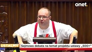 Rafał Wójcikowski MIAŻDŻY ustawę PiS 500+