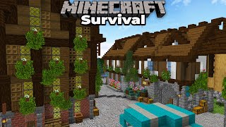 Minecraft 1.15 Survival - Building a Brewery and More Houses!