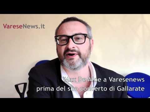 Max De Aloe invita al concerto di Gallarate