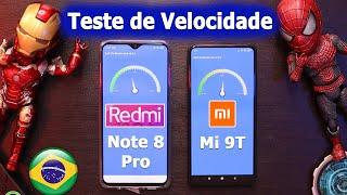 Tudocelular - Redmi note 8 pro vs Xiaomi Mi 9T teste de velocidade pubg bateria aquecimento
