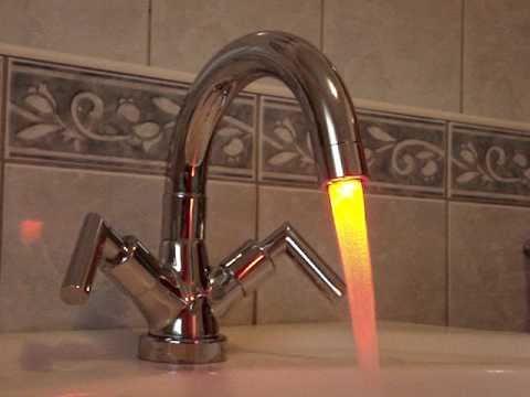 LED faucet light, Világító LED csap, LED Wasserhahn