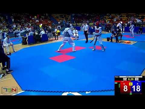 3014 ROSLAN LBZO JORDAN N T  JOR vs  RATHUSHAN MURUGATHASAN NESODDEN TKD CLUB NOR 37 13 (видео)