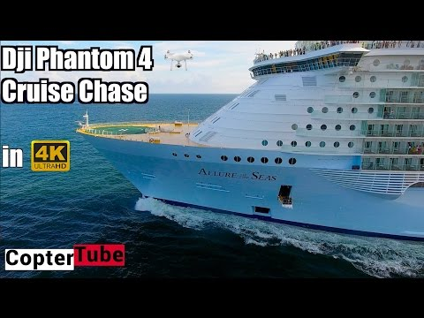 This guy chases cruise ships with drones and gets some amazing footage.