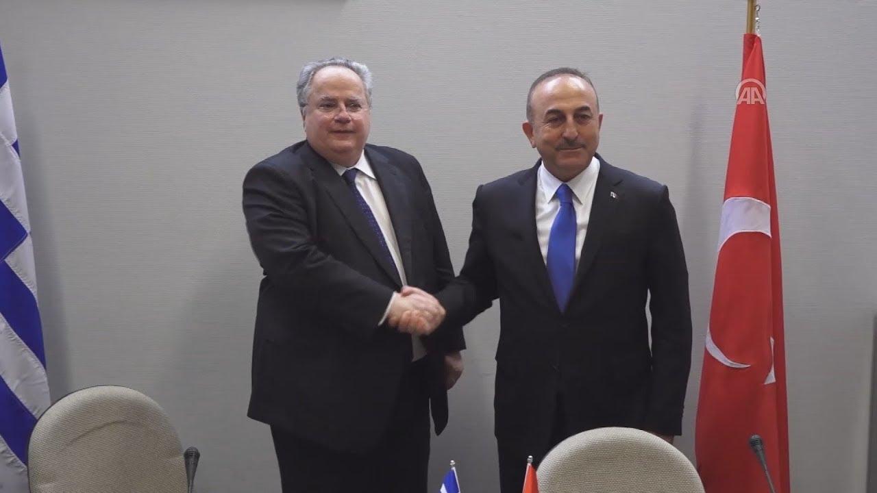 Συνάντηση του υπ. Εξωτερικών Ν. Κοτζιά με  τον τούρκο ομόλογό του, Μεβλούτ Τσαβούσογλου.