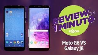 Tudocelular - Motorola Moto G6 vs Samsung Galaxy J8 - COMPARATIVO  REVIEW EM 1 MINUTO - ZOOM