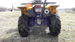 7. How 28 inch Zillas fit on a KingQuad 750