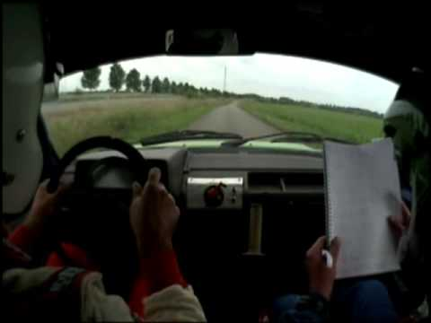 Brakes fail on rally car