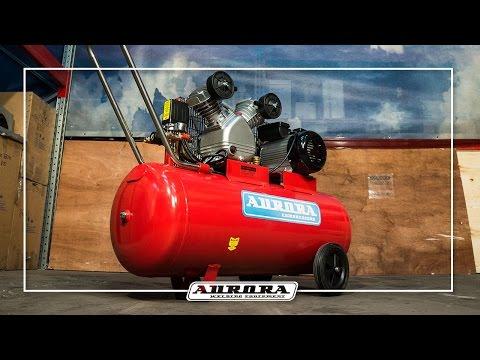 Поршневой компрессор Aurora Cyclon-100. В центре циклона