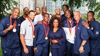 "Oprah Winfrey interviews the Olympic Gold Medal winning United States men's basketball ""Redeem team"" in Millennium Park, Chicago on September 3rd 2008.👍 and subscribe for more international basketball related videos ► http://bit.ly/SubWorldBasketballLebron James was not present at this event, however the remaining 11 members of the team were: Carmelo Anthony, Carlos Boozer, Chris Bosh, Kobe Bryant, Dwight Howard, Jason Kidd, Chris Paul, Tayshaun Prince, Michael Redd, Dwyane Wade, and Deron Williams."