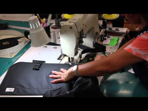 Lead apron production by Healthspace's supplier, Infab
