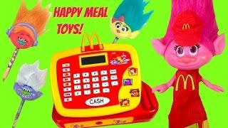 McDonald's Happy Meal Full Set of Troll Movie Toys! Cash Regis...