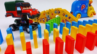 Video Automatic Domino Laying Car Toy Pororo Domino Rally MP3, 3GP, MP4, WEBM, AVI, FLV Juli 2018