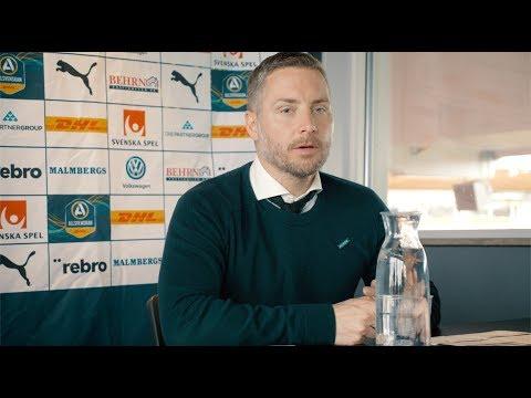 Presskonferens efter vinsten mot AIK