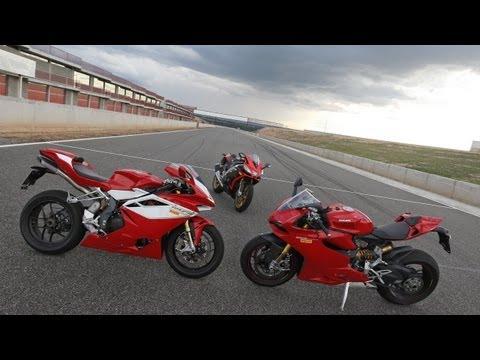 aprilia & ducati & mv augusta - test superbike