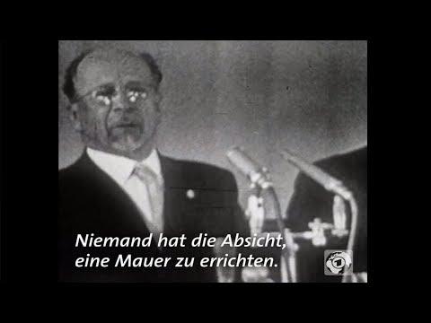 Walter Ulbricht 1961: »Niemand hat die Absicht, eine  ...