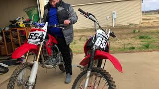 7. CRF100F & CRF150R Review and Startup