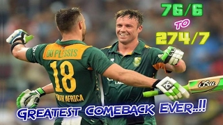 Video 76/6 to 274/7 : When South Africa DID NOT CHOKE | Greatest Comeback Innings in Cricket History!! MP3, 3GP, MP4, WEBM, AVI, FLV Agustus 2018