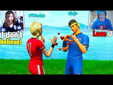 Ninja fell in LOVE with Pokimane ! Ninja & Pokimane in Fortnite