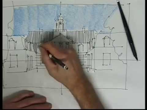 Häuser perspektivisch einfach skizzieren von Klaus Meier-Pauken