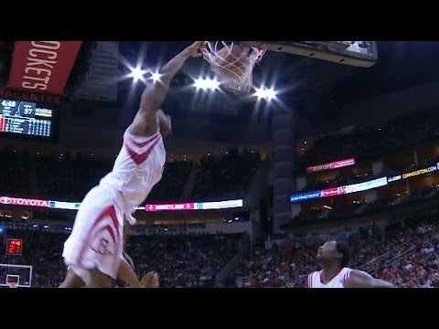 Terrence Jones nasty alleyoop over Tim Duncan