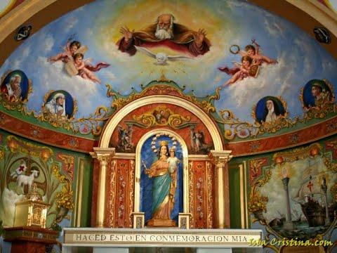 Vídeo proceso pintado y dorado del Retablo y Presbiterio Iglesia de Mª Auxiliadora-Pozo del Camino.