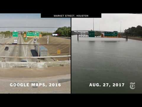 Houston Before And After Harvey