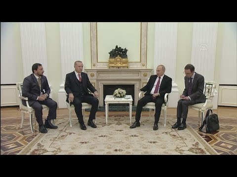 Συνάντηση του Βλαντιμιρ Πούτιν με τον Ρετζέπ Ταγίπ  Ερντογάν