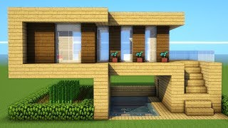 Minecraft: How To Build A Starter Wooden House Tutorial ( 2018/2019 )