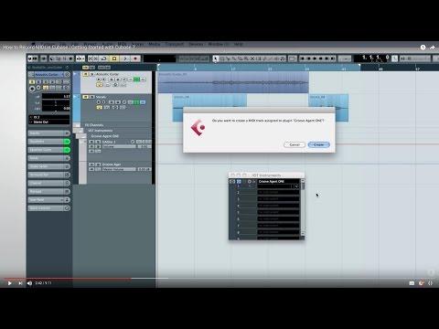 Cubase 7 Quick Start Video Tutorials – Chapter 4 – Basic MIDI recording