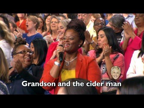 Ellen's Audience Sings 'Uptown Funk'