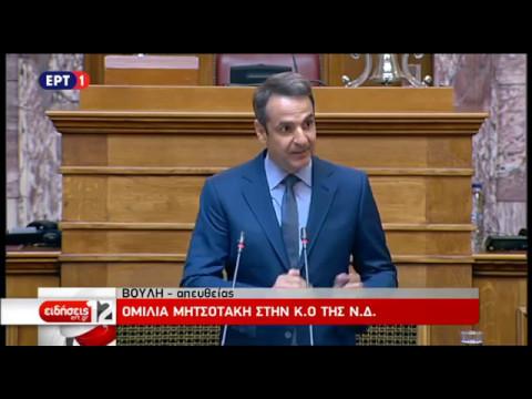 Απόσπασμα από την ομιλία του Κυρ. Μητσοτάκη στην Κοινοβουλευτική Ομάδα της Ν.Δ.