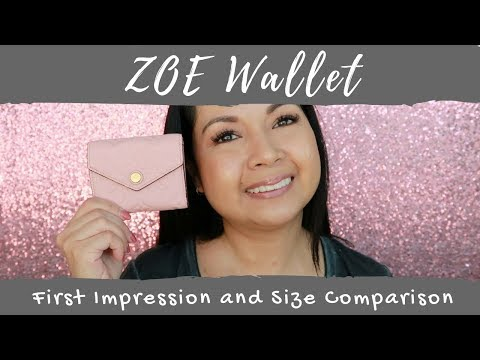 Louis Vuitton Zoe Wallet | First Impression | Size Comparison | LalaLV
