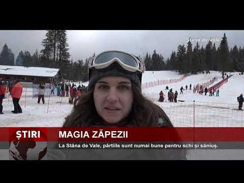 Magia zăpezii, la Stâna de Vale, în județul Bihor