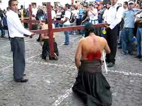 Mexico Travel: Self-flagellation during Good Friday procession in Taxco