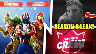 SEASON 6 Audio Leaks, Fortnite x Nintendo, March Crew Pack Skin!