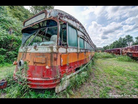 Abandoned Trolley Streetcar Graveyard