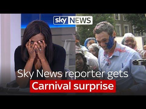 Sky News reporter's Carnival surprise