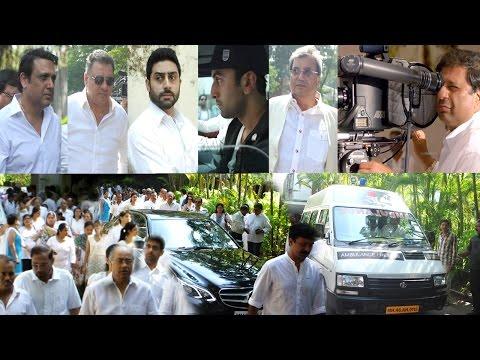 Ranbir Kapoor , Govinda, Boman Irani & Others At funeral Of Ravi Chopra