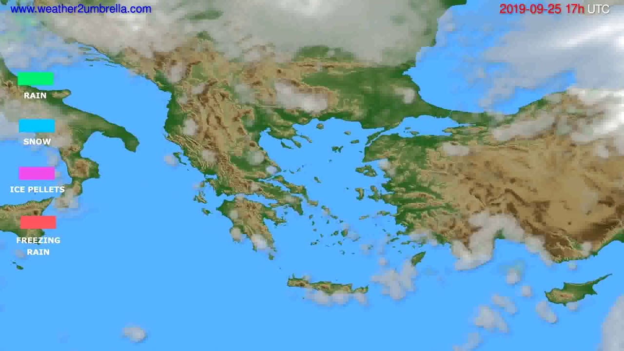Precipitation forecast Greece // modelrun: 00h UTC 2019-09-24