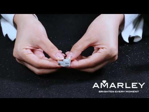 Halo Emerald Cut Lab Created Diamond Bridal Set / Wedding Ring Set-Amarley Jewelry