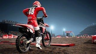Monster Energy Supercross - Honda CRF 250 - Test Ride Gameplay (PC HD) [1080p60FPS]