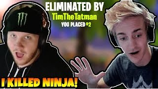 Ninja Got Killed By TimTheTatman in the 500.000$ Fotnite Tournament!